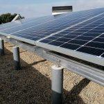 Instal·lació de plaques solars a Llambilles (Girona)