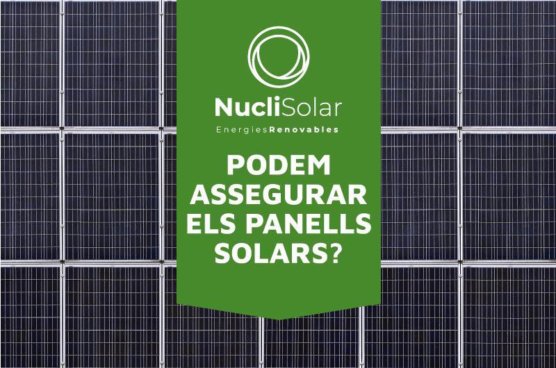 Assegurar els panells solars - Assegurança per plaques solars
